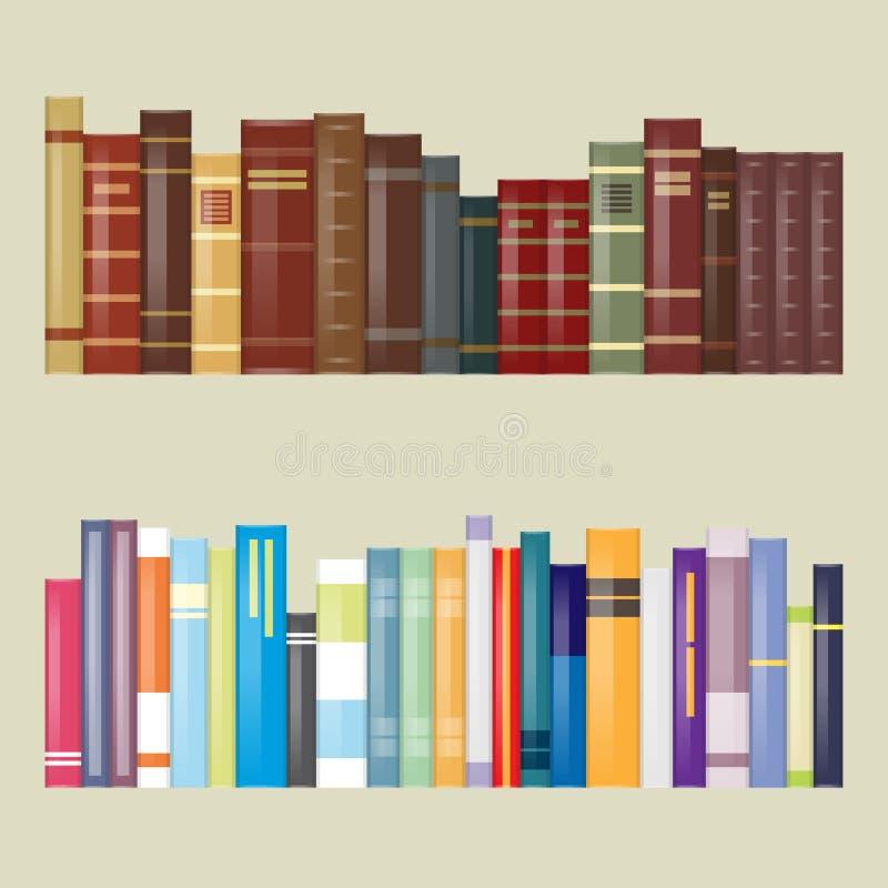 Libros filtrados plano del diseño stock de ilustración