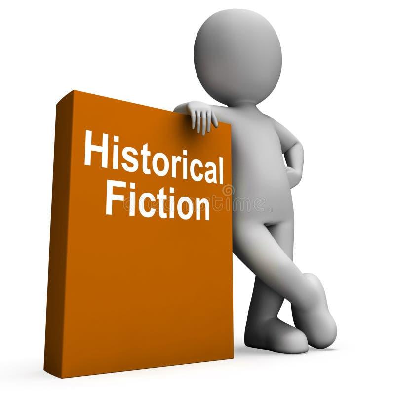 Libros históricos de los medios del libro y del carácter de la ficción de la historia libre illustration