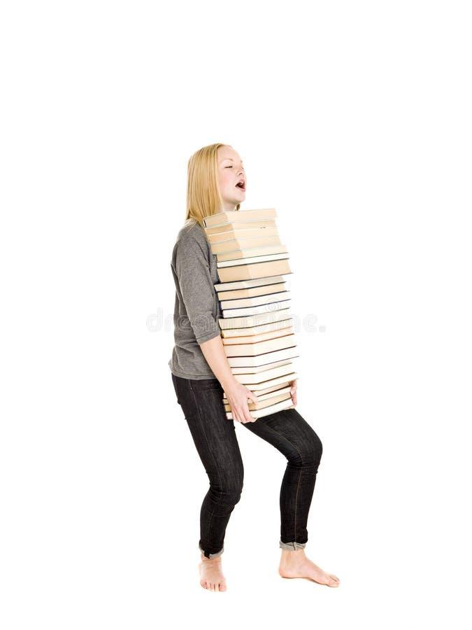 Libros pesados imágenes de archivo libres de regalías