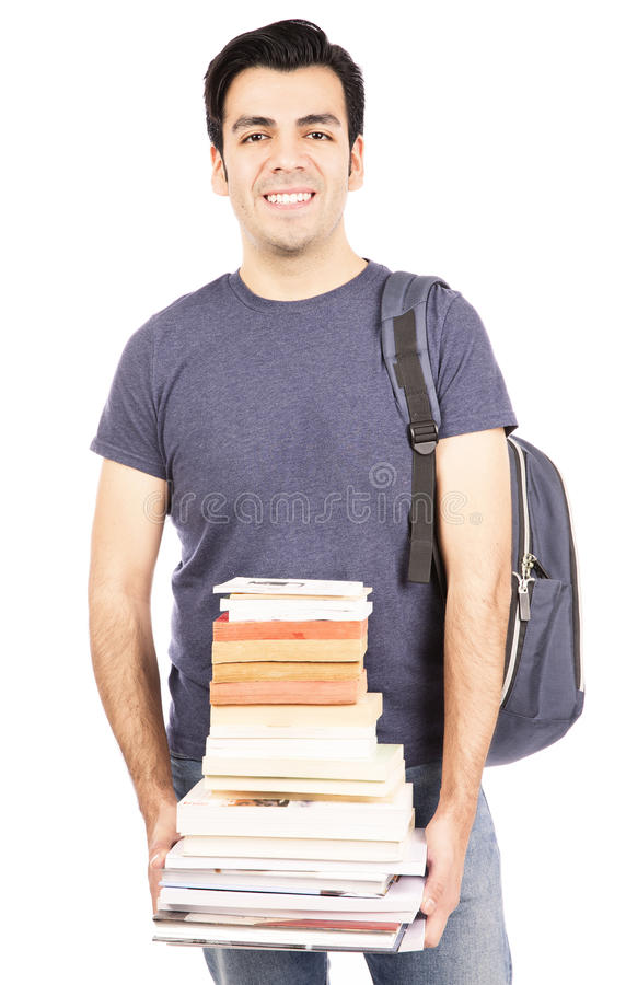 Libros que llevan del estudiante foto de archivo libre de regalías
