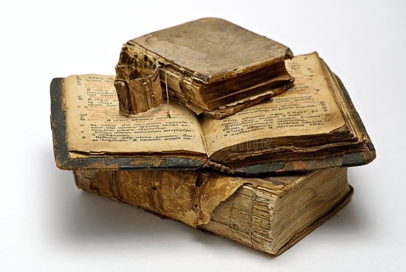 Libros religiosos viejos imagenes de archivo