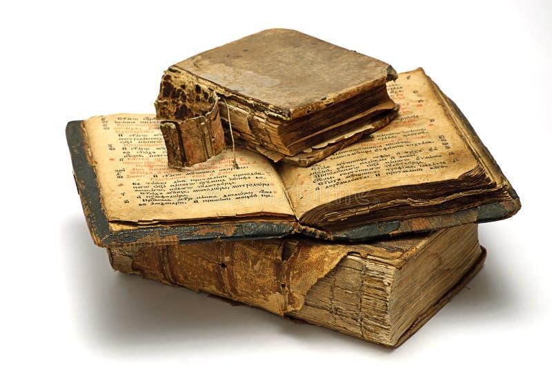 Libros religiosos viejos fotografía de archivo