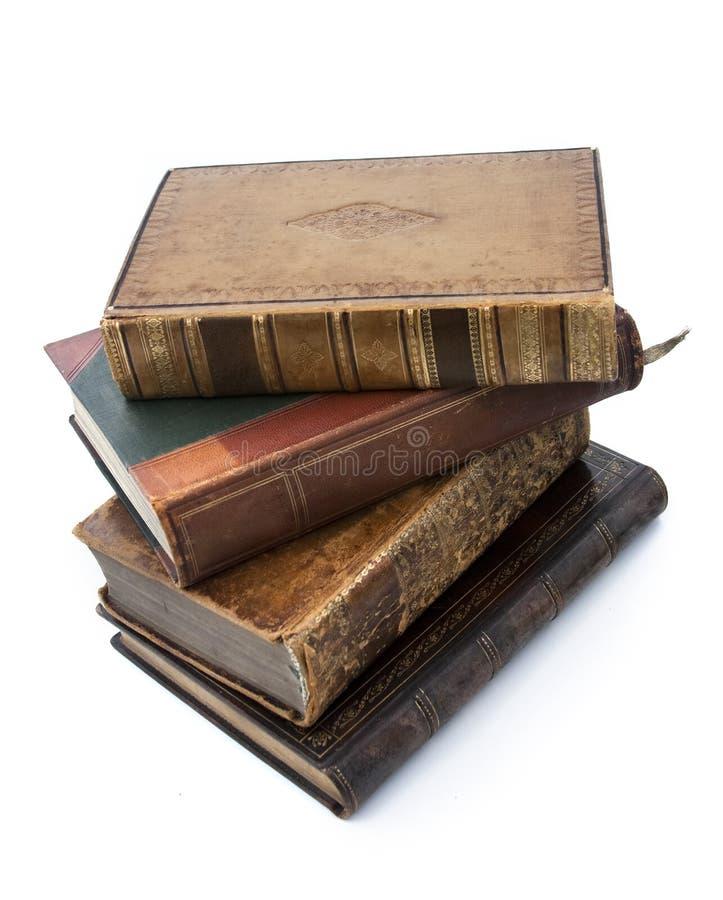 Libros viejos antiguos fotografía de archivo libre de regalías