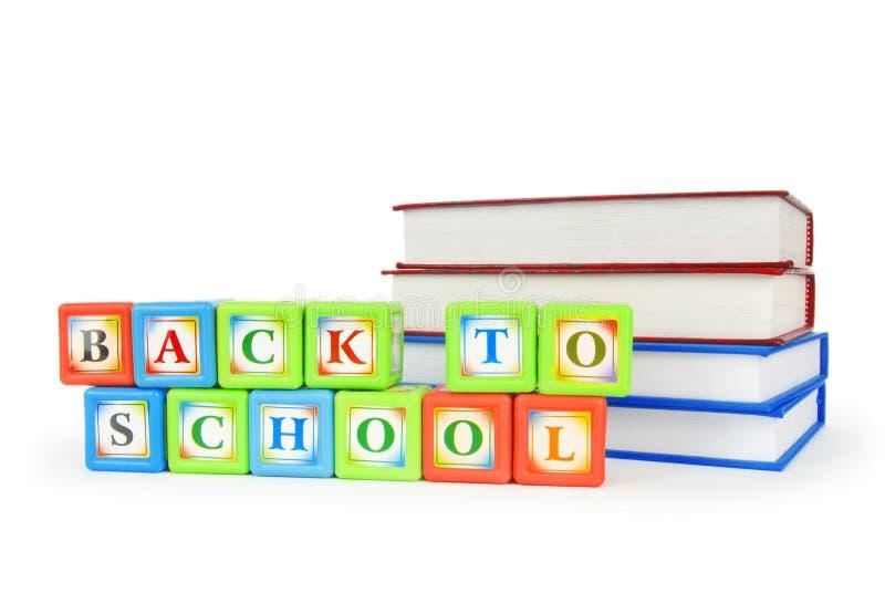 Libros y bloques del alfabeto foto de archivo libre de regalías
