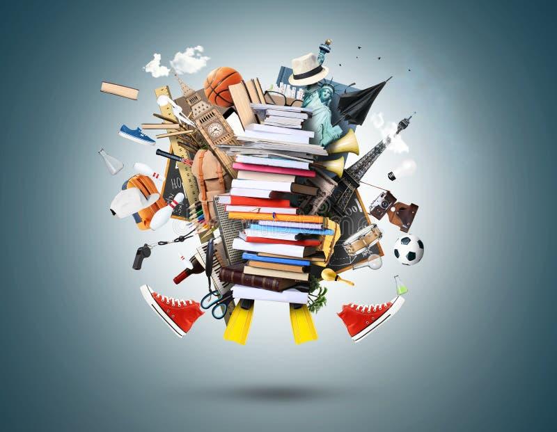 Libros y compartimientos libre illustration