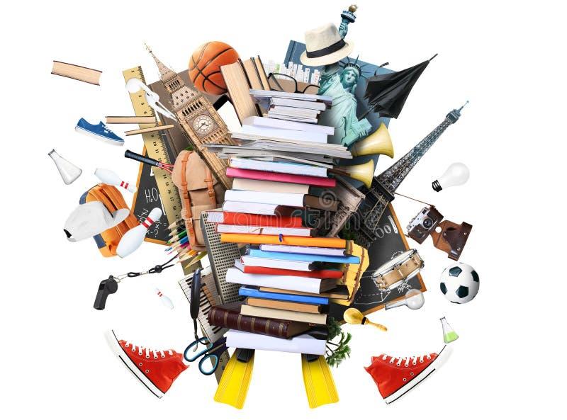 Libros y compartimientos fotografía de archivo libre de regalías