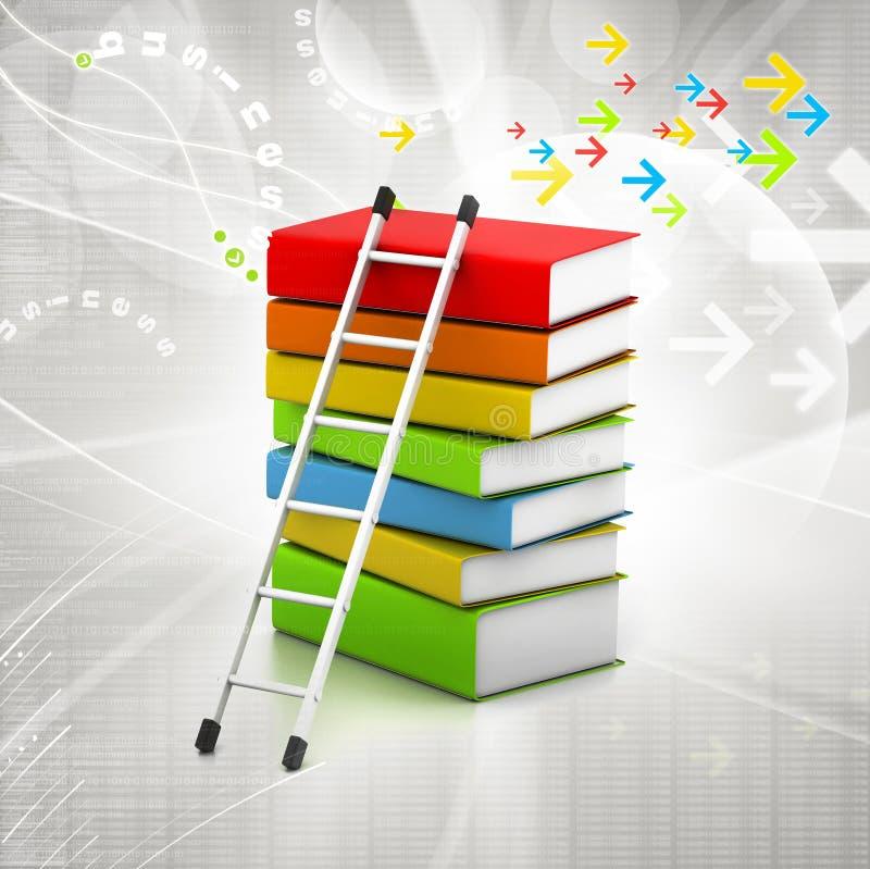 Libros y escalera coloridos libre illustration