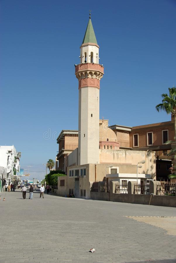 libya moské tripoli royaltyfri foto