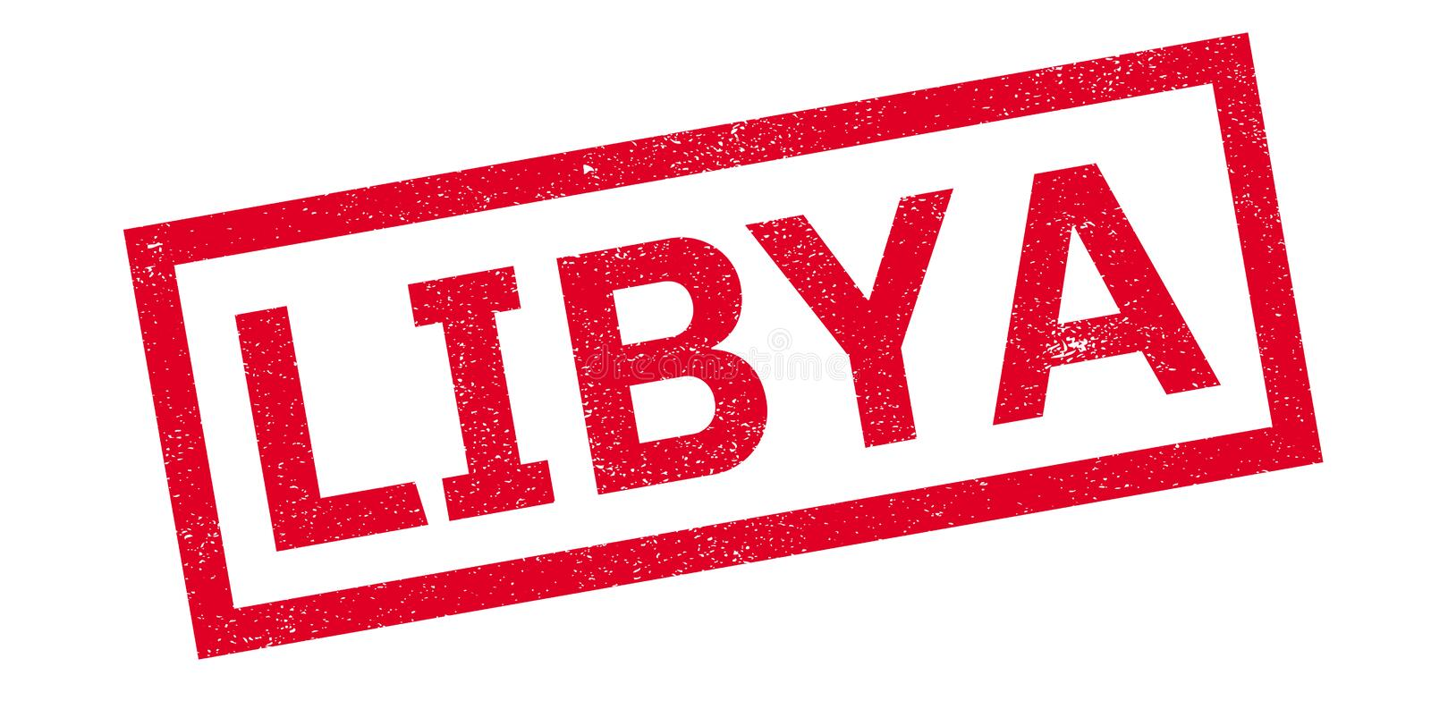 Libya rubber stamp. Grunge design with dust scratches. Effects can be easily removed for a clean, crisp look. Color is easily changed stock illustration