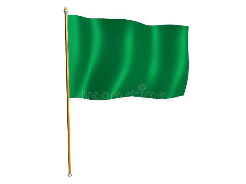 Libya silk flag vector illustration