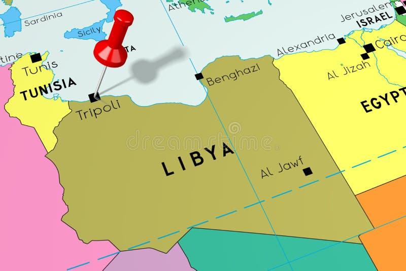 Libya Political Map stock vector  Illustration of atlas