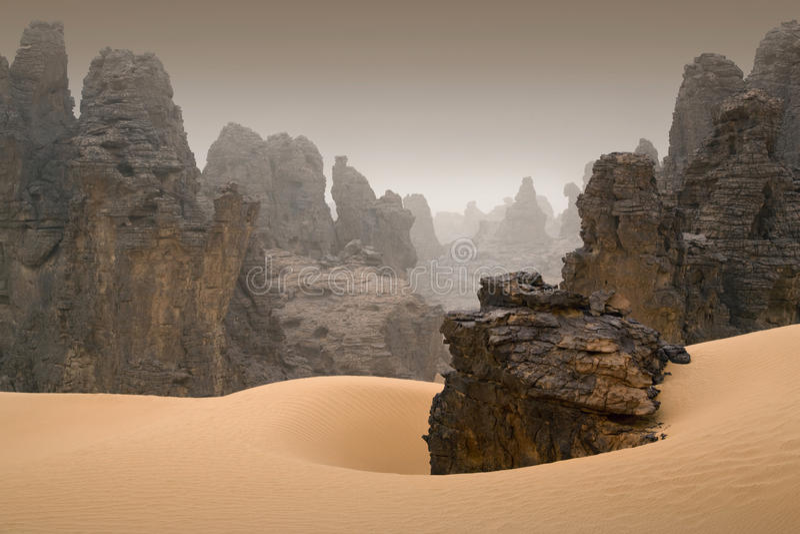 Libyan沙漠 免版税库存照片