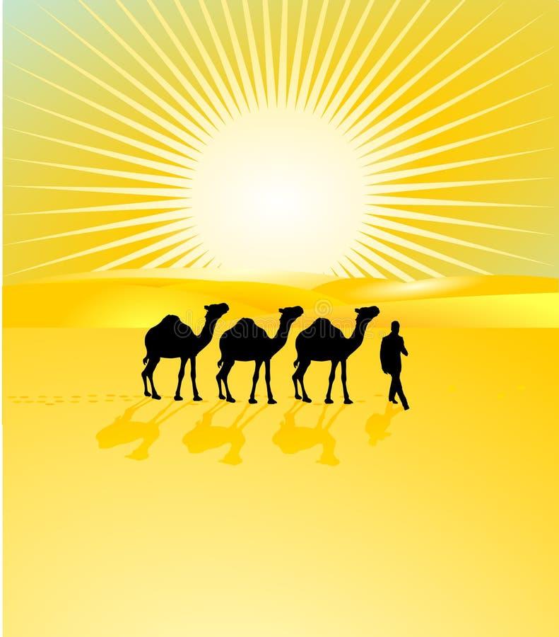 Download Libyan Desert stock vector. Image of camel, landscape - 14853764