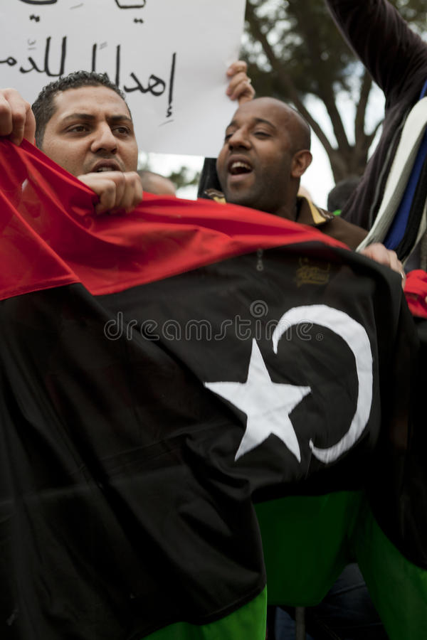 Download Libyan Embassy Protest editorial photography. Image of turmoil - 18503337