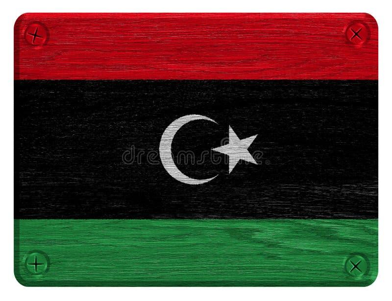 Libyen flagga royaltyfri fotografi