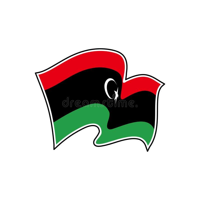 Libyen vektorflagga Nationellt symbol av Libyen royaltyfri illustrationer