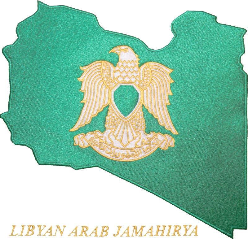 Libysches Arabisches Jamahirya Emblem Stockfotos