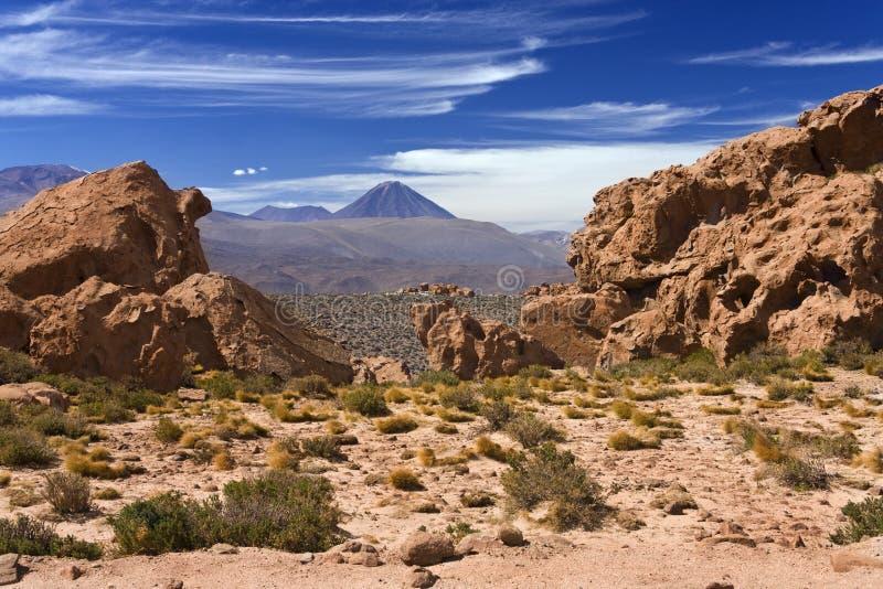 Licancabur Volcano - Atacama Desert - Chile. Mount Licancabur Volcano (5600m - 19300ft) in the Atacama Desert region of Northern Chile royalty free stock photos