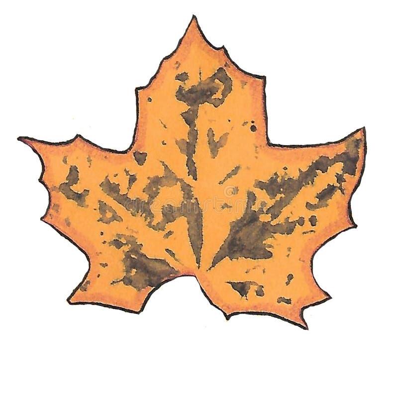 Licen?a de outono c?pias das folhas de bordo manchas sujas ilustração royalty free