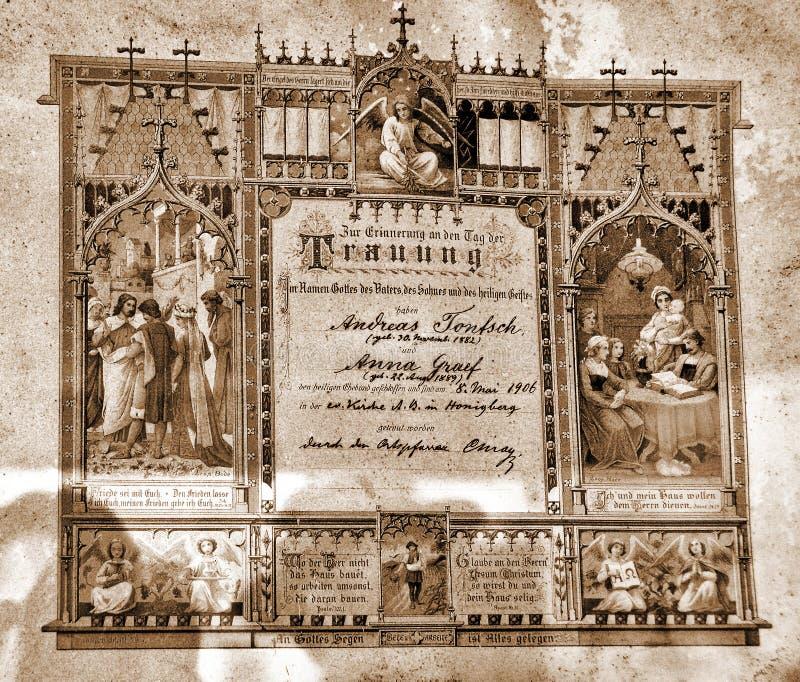 Licencia de Mariage imágenes de archivo libres de regalías