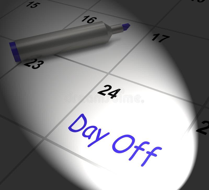 Licencia y día de fiesta del trabajo de exhibiciones del calendario del día libre ilustración del vector
