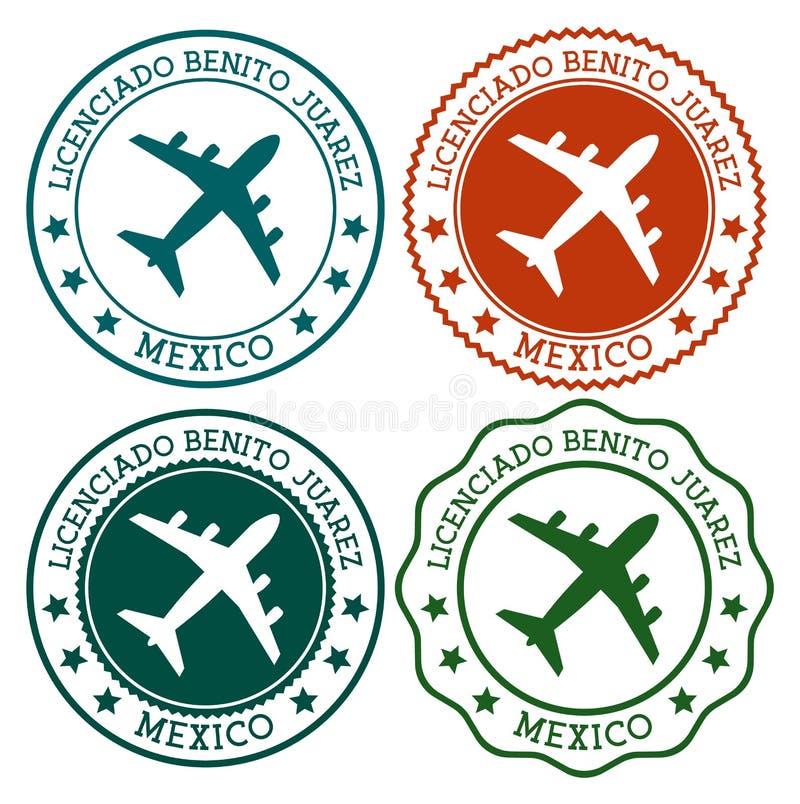 Licenciado Benito Juarez Mexico Ciudad de M?xico ilustración del vector