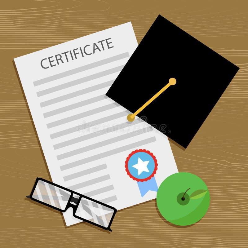 Licencjat i świadectwo ilustracja wektor