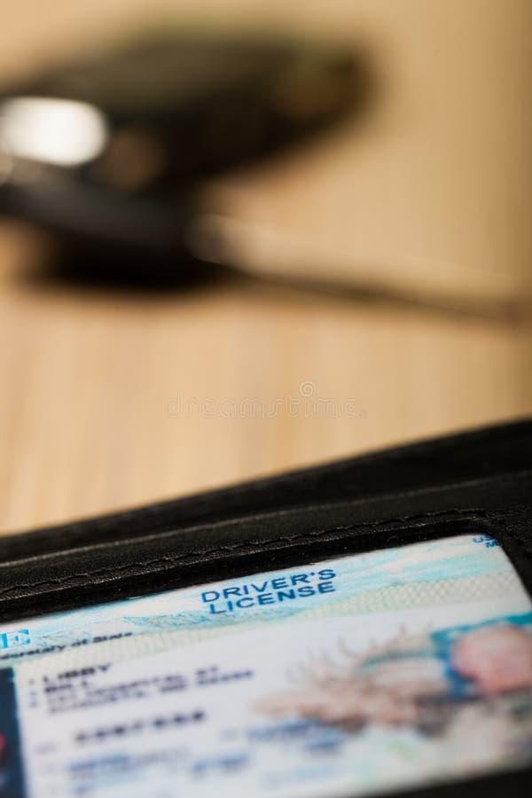 Licens för chaufför` s arkivbild