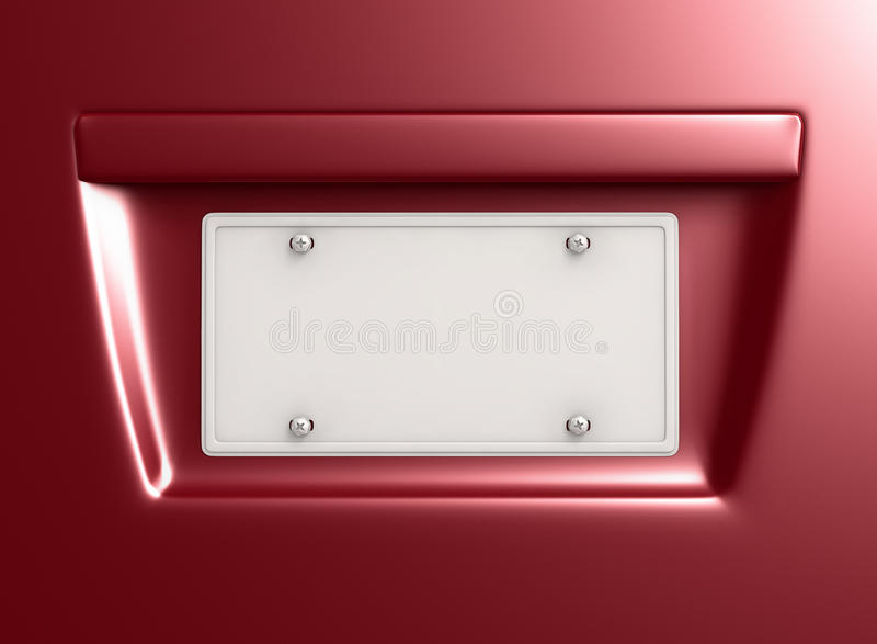 License Plate. With empty space for design. Clipping path included vector illustration