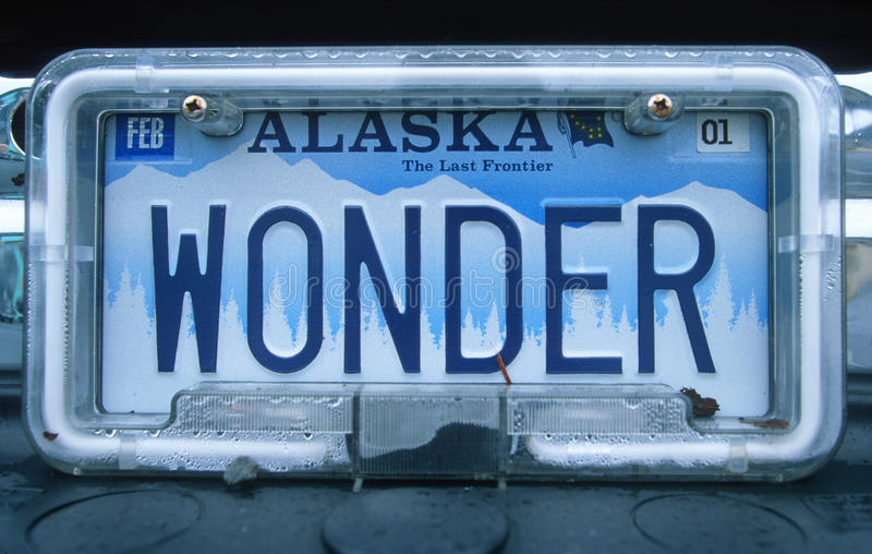 License Plate - Alaska royalty free stock photography