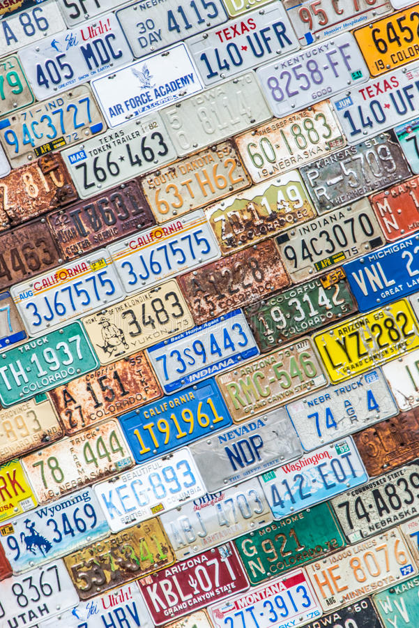 License Plate Background Texture Pattern Wall Editorial Stock Image ...