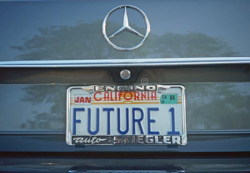 License Plate in California. Vanity License Plate in California stock photos