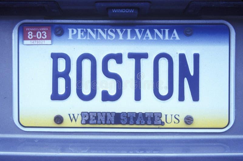 License Plate in Pennsylvania. Vanity License Plate in Pennsylvania royalty free stock photo