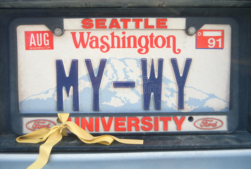 Download License Plate  In Washington Editorial Image - Image: 23166975