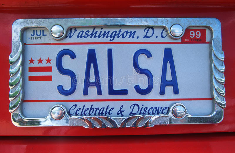 License Plate in Washington. Vanity License Plate in Washington, DC royalty free stock photo