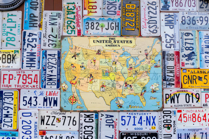 The license plates. royalty free stock photo
