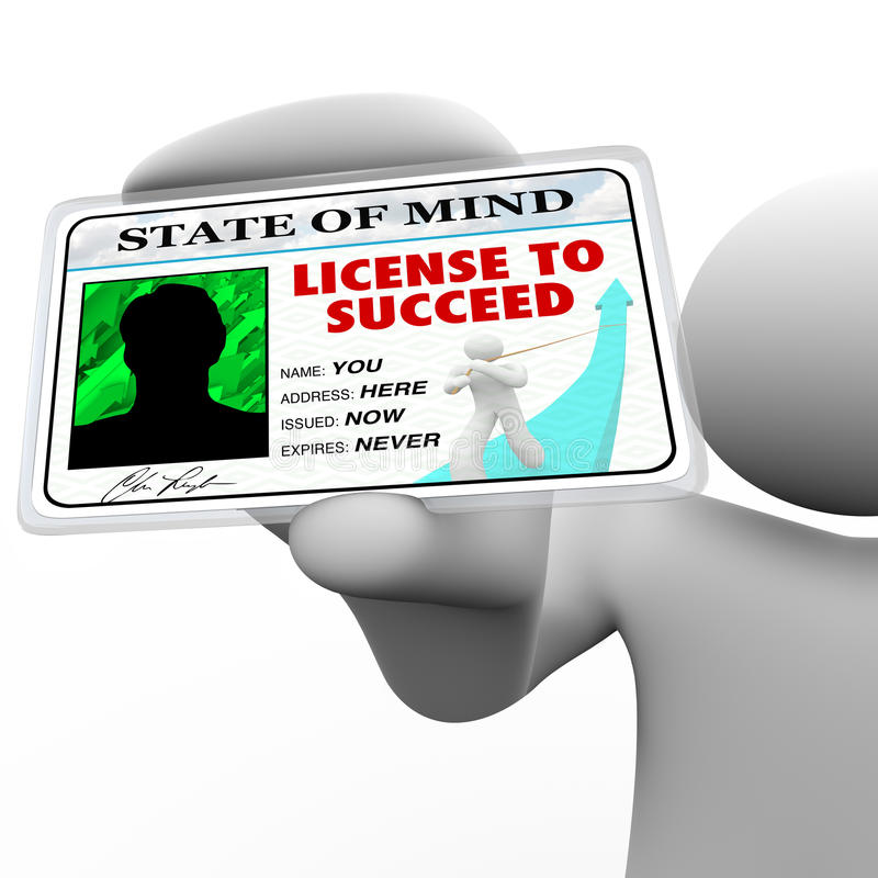 Download License To Succeed - Man Holding Badge Stock Illustration - Image: 20451950