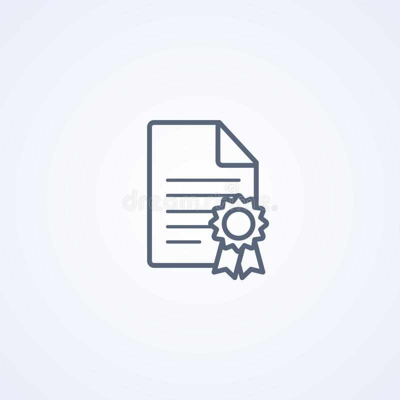 License, vector best gray line icon royalty free illustration