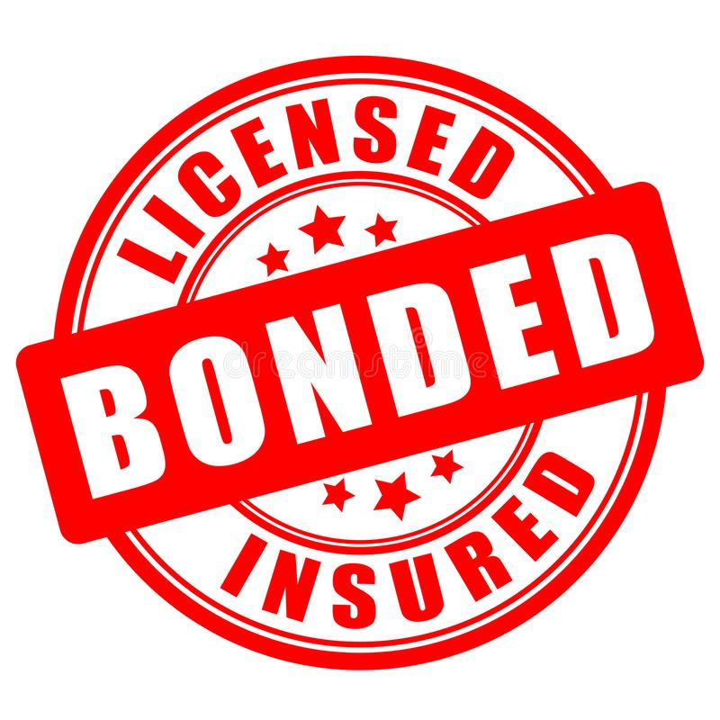 Free Licensed Bonded Insured Seal Stock Photography - 166957272