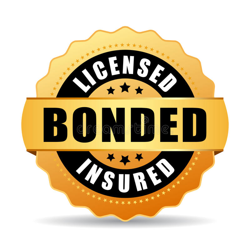 Free Licensed Bonded Insured Vector Icon Royalty Free Stock Photo - 86546455