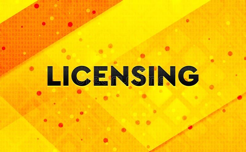 Licensera gul bakgrund för abstrakt digitalt baner vektor illustrationer