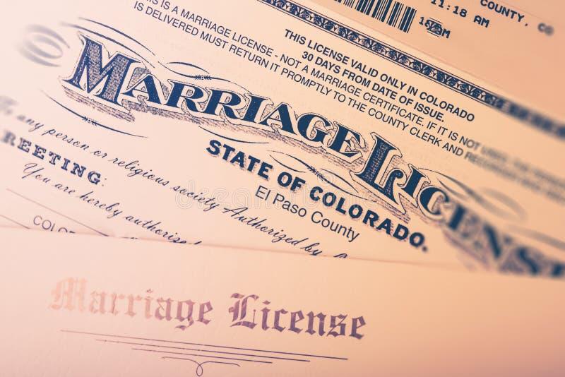 Licenza di matrimonio fotografia stock