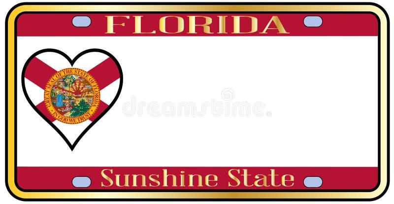 Licenza Plateai dello stato di Florida illustrazione di stock