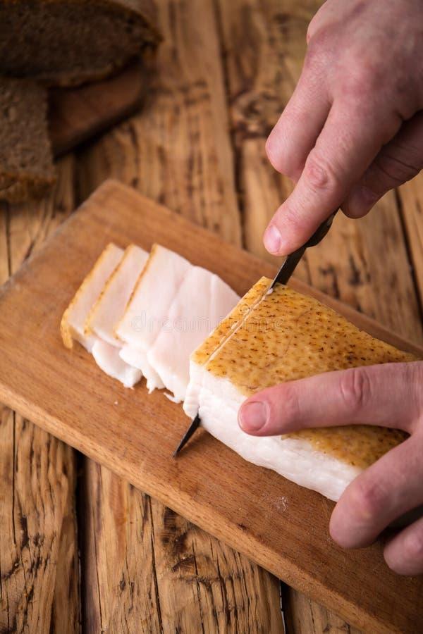 Lices do bacon fotografia de stock royalty free
