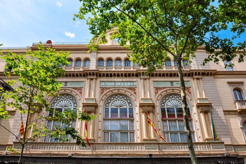 Liceu theater on La Rambla street, Barcelona, Spain stock photo