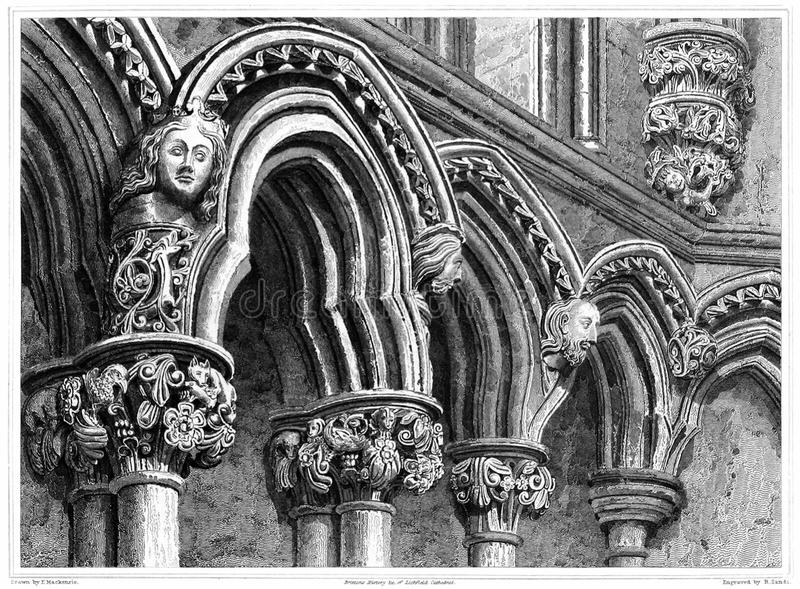 Lichfield Cathedral—Chapter House royalty free stock photos