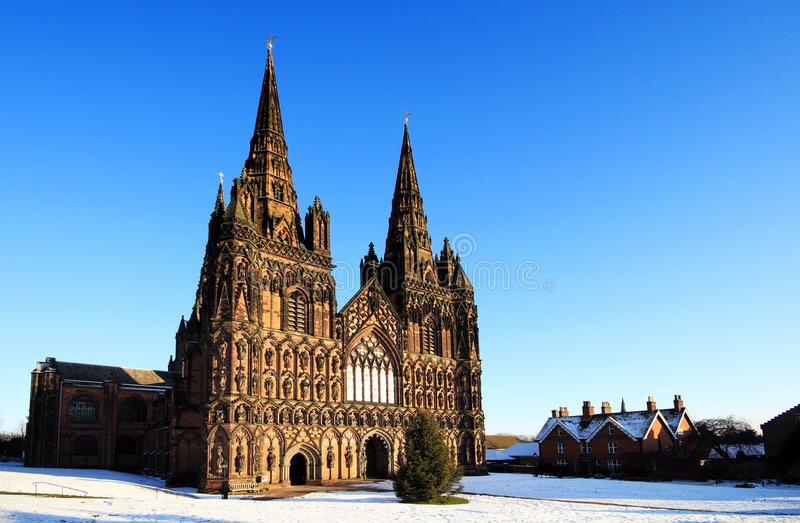 Lichfield cathedral stock photography