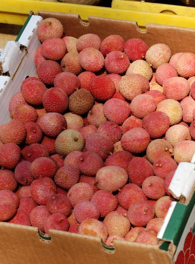 Lichi doce em um mercado mexicano fotos de stock royalty free