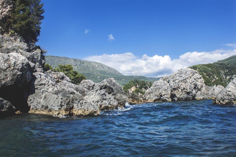 Lichnos beach Parga Greece royalty free stock images