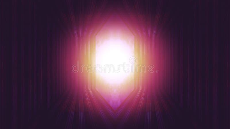 Licht aan het eind van deur aan hemel stock foto's